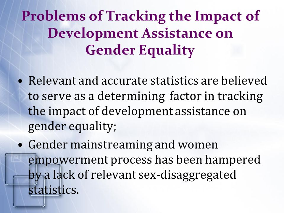 Problems of Tracking the Impact of Development Assistance on Gender Equality