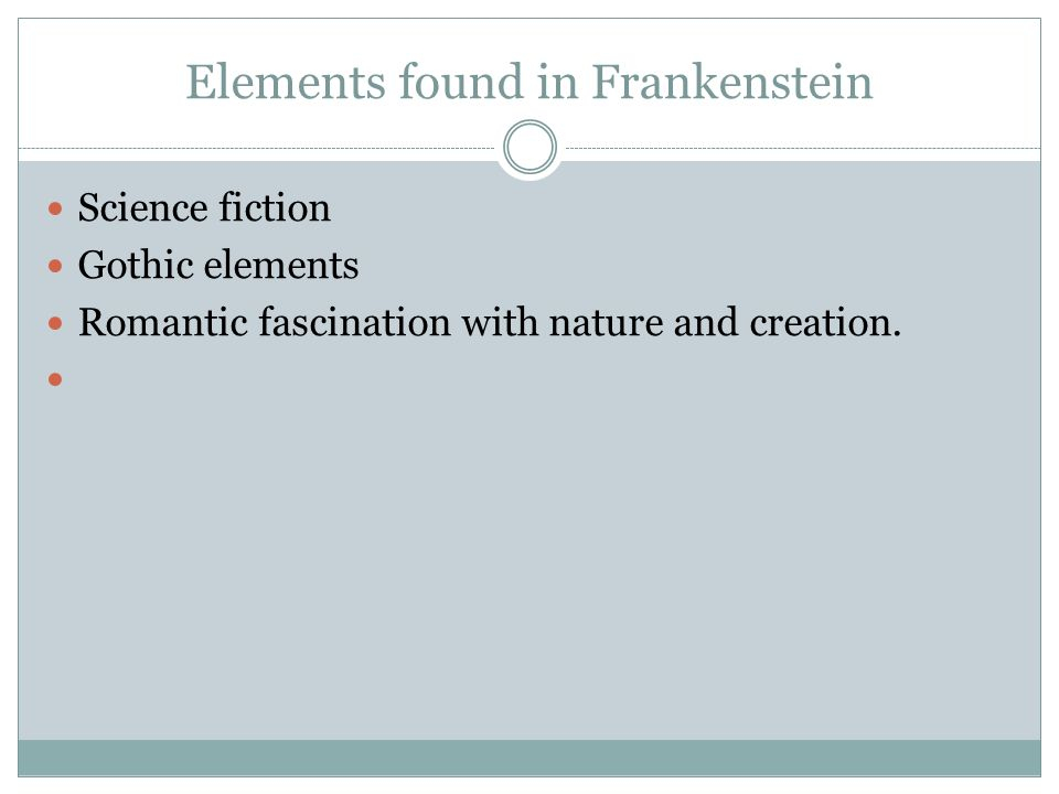 the fascination of victor frankenstein with nature Taken from mary shelley's author's introduction to the 1831 edition of frankenstein, this quote describes the vision that inspired the novel and the prototypes for victor and the monster.