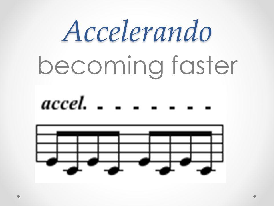 Accelerando becoming faster