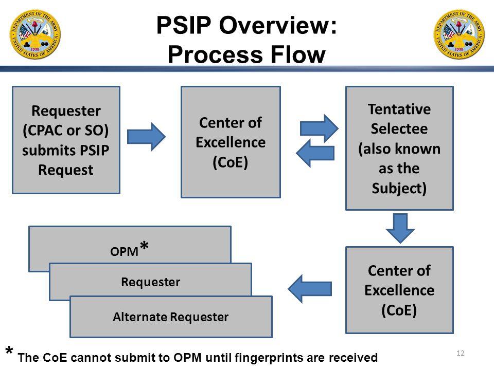 PSIP Overview: Process Flow