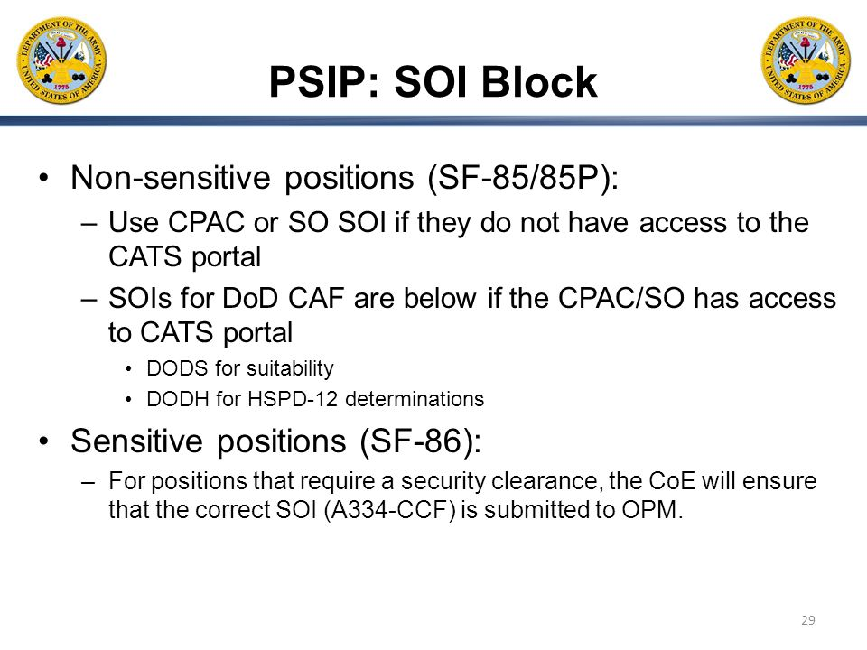 Personnel Security Investigation Portal PSIP Update and – Sf 86 Worksheet