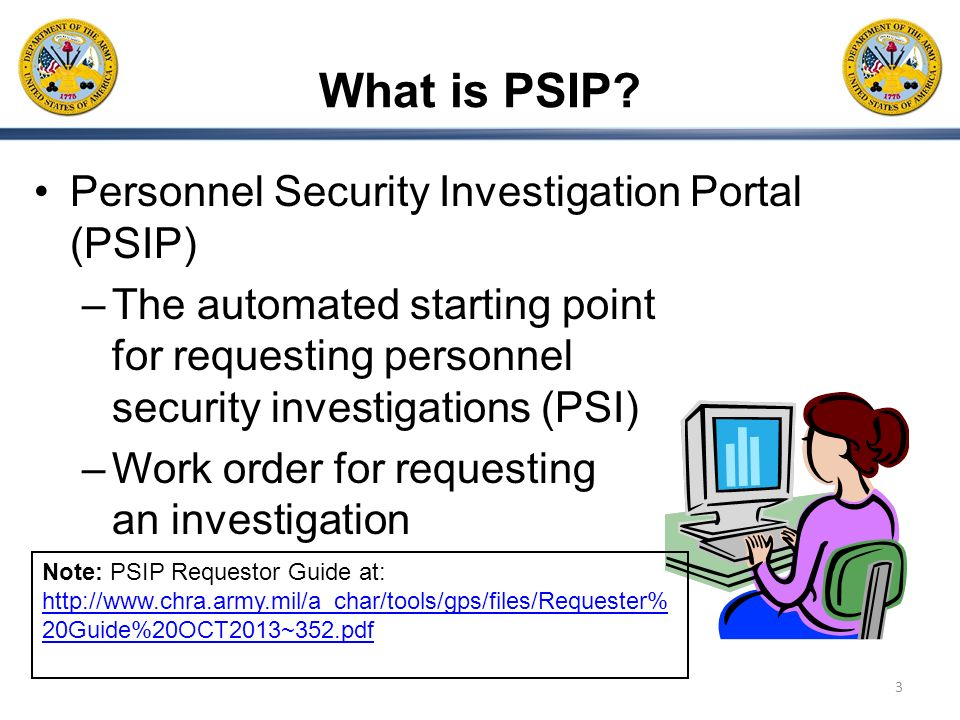 What is PSIP Personnel Security Investigation Portal (PSIP)