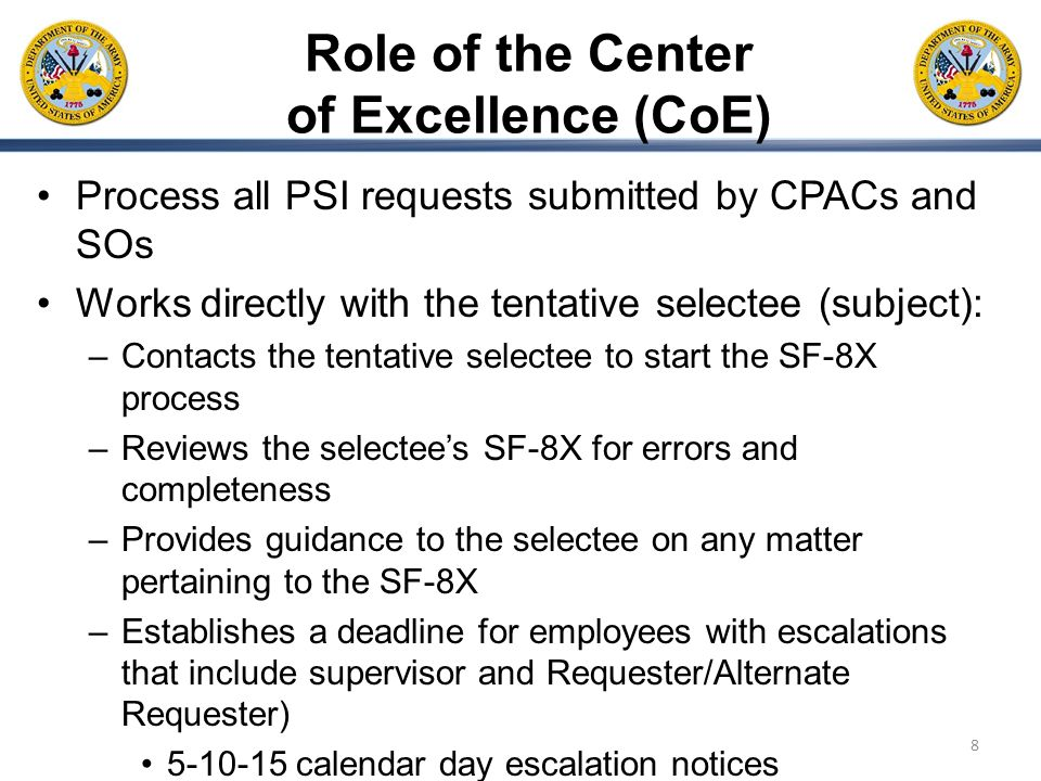 Role of the Center of Excellence (CoE)