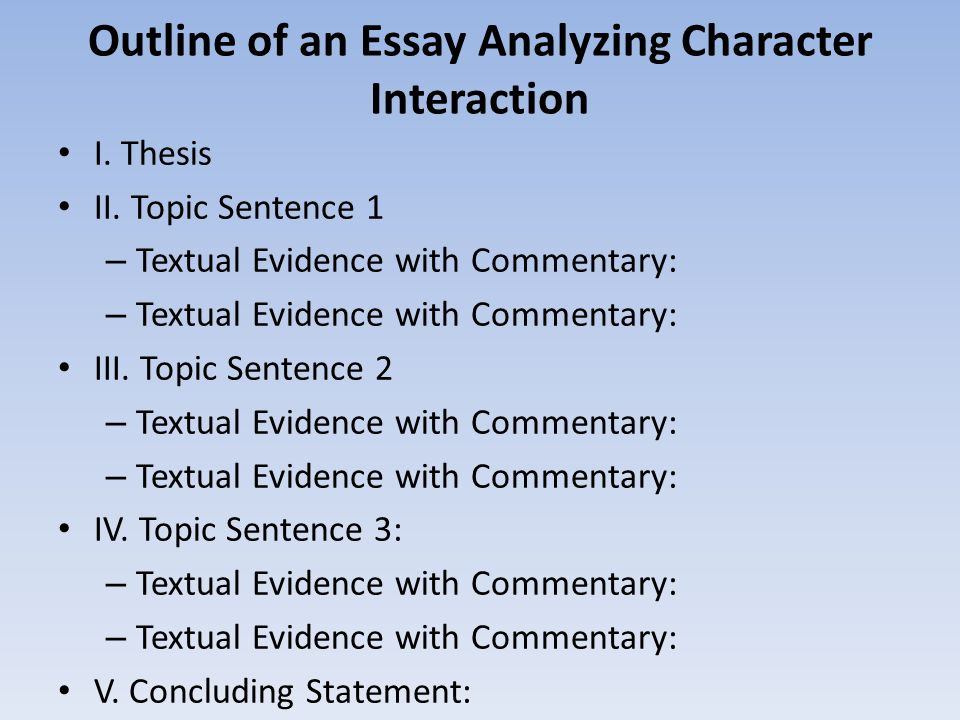 make thesis statement character analysis I'm supposed to write a character analysis paper on jim brogan from the conveyor by james steele but it can only be about jim in the first two chapters.