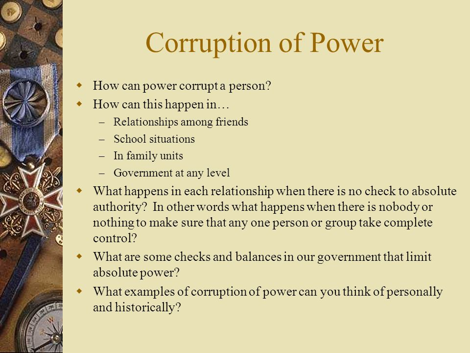 the corruption caused by absolute power in the novel animal farm by george orwell Absolute power can lead to absolute corruption, but characters such as snowball show that with power (not absolute) does not lead to corruption this is just one of the many moral lessons in animal farm, i ahd to write an essay on this.