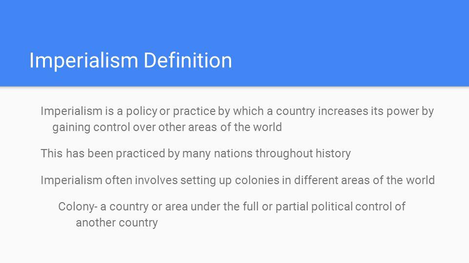 imperialismus definition für schüler