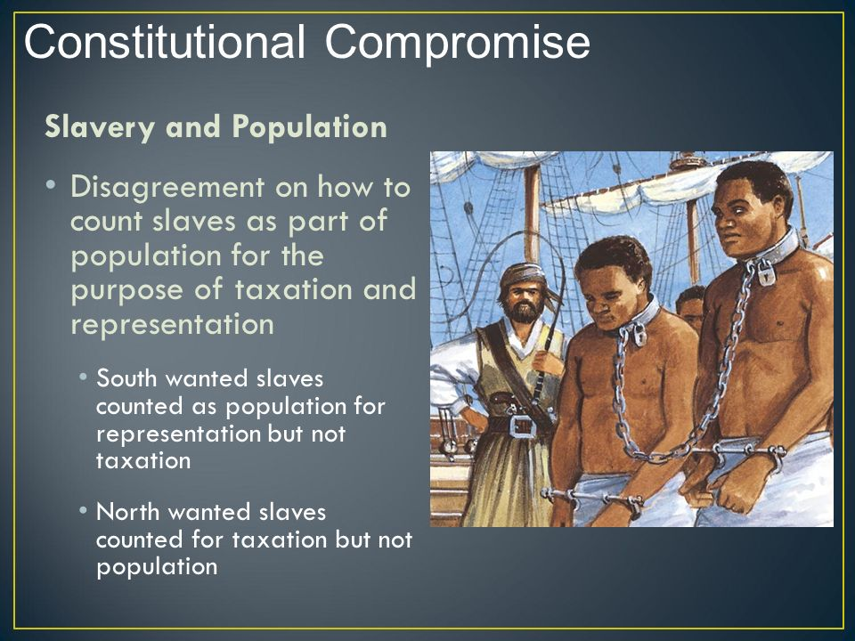 representation taxation and slavery What debate did the three-fifths compromise settle for the purpose of taxation and representation in the slave population for purposes of taxation and.