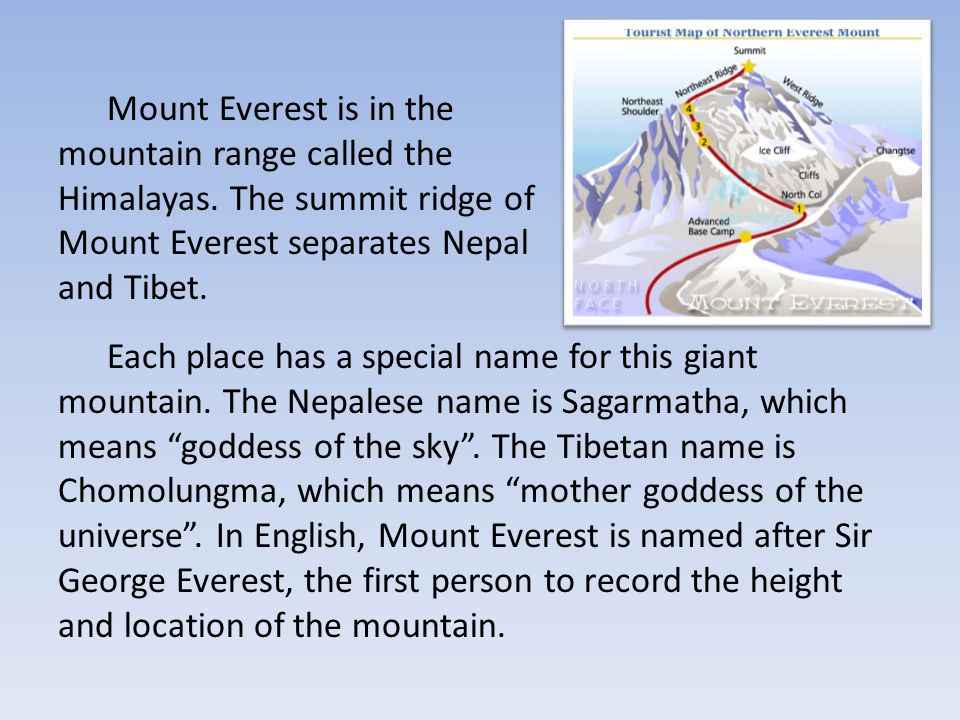a description of the location of mt everest 1 the officially recognised height of mount everest is 29029ft (8848m), based on  a 1954 ground-based measurement a disputed.