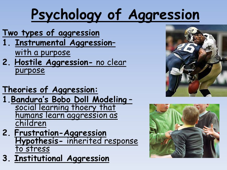 two theories on aggression Aggression and violence are terms often used interchangeably however, the two differ violence can be defined as the use of physical force with the intent to injure.