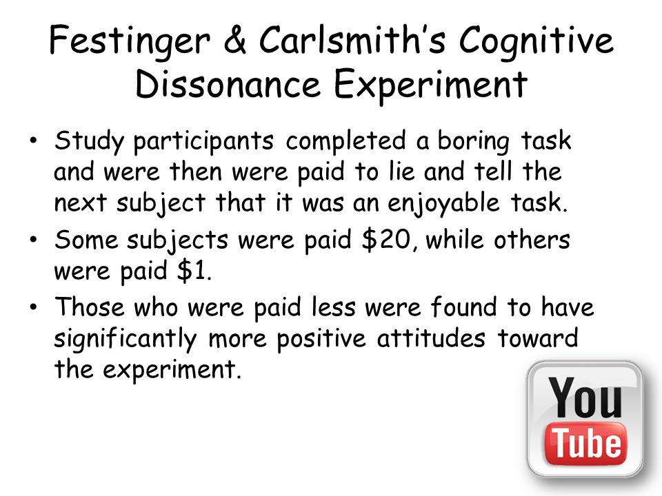 an analysis of cognitive dissonance Cognitive dissonance cognitive theory  festinger in his analysis of the cognitive dissonance theory gave the analogy of a fearful person, who could not find .