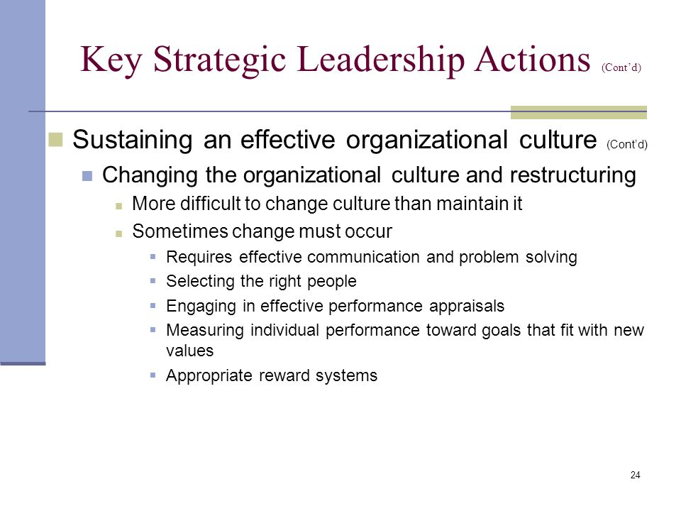 strategic leadership actions C myers' strategic leadership development for both individuals and teams helps   skills to the next level of inhabiting the actions and qualities of leadership.