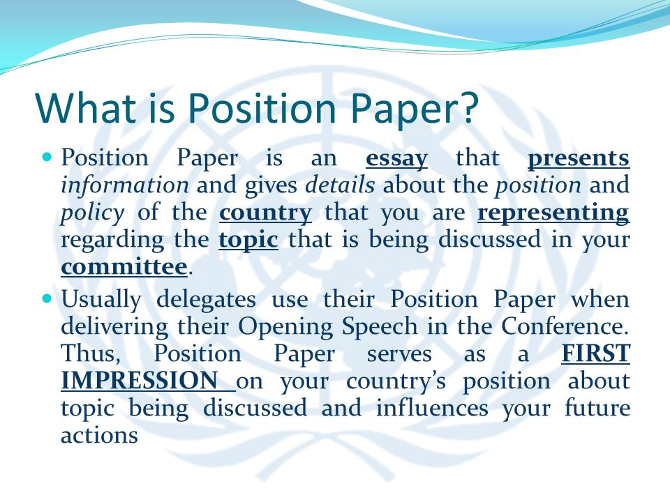 position paper 2 essay