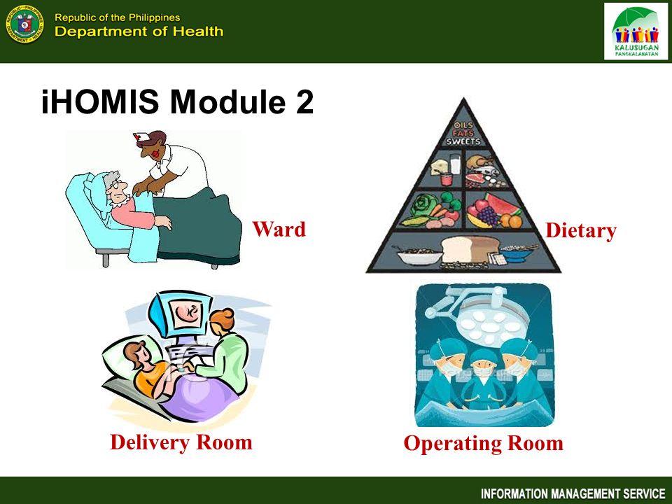 iHOMIS Module 2 Ward Dietary Delivery Room Operating Room