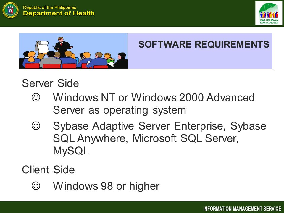Windows NT or Windows 2000 Advanced Server as operating system