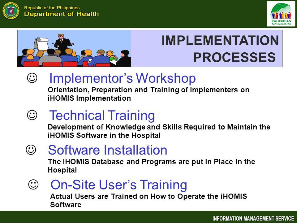 IMPLEMENTATION PROCESSES Implementor's Workshop Technical Training