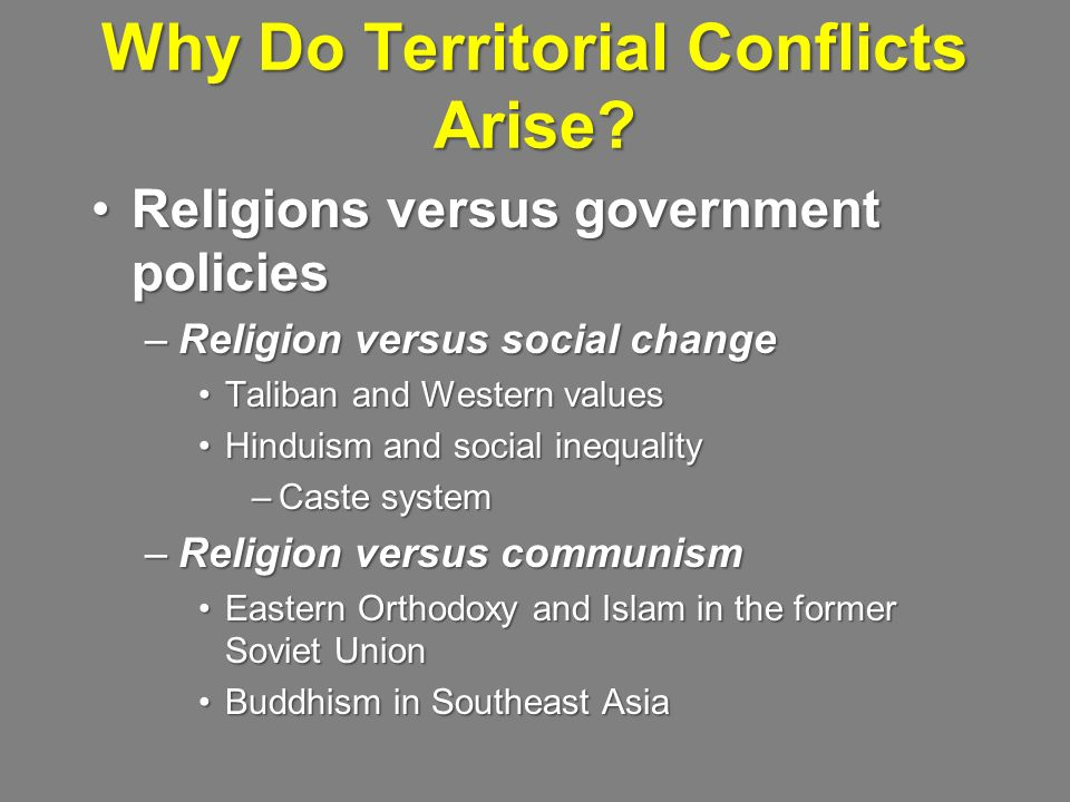 Why Do Territorial Conflicts Arise