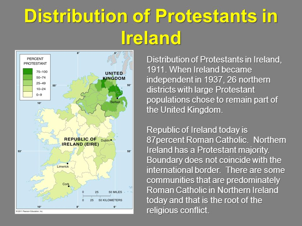 Distribution of Protestants in Ireland