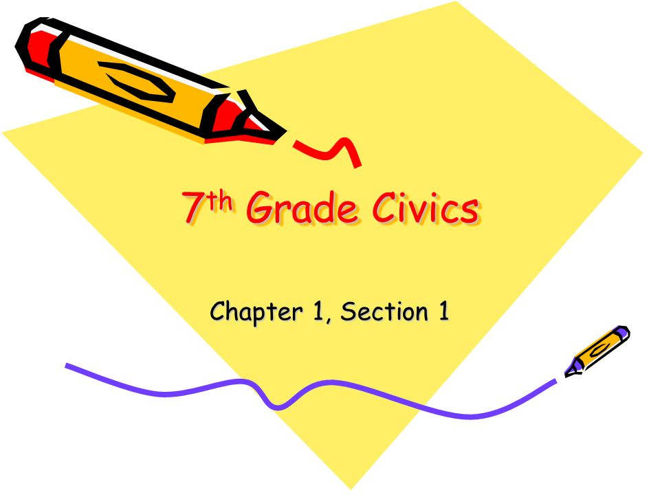7th Grade Civics Chapter 1, Section 1