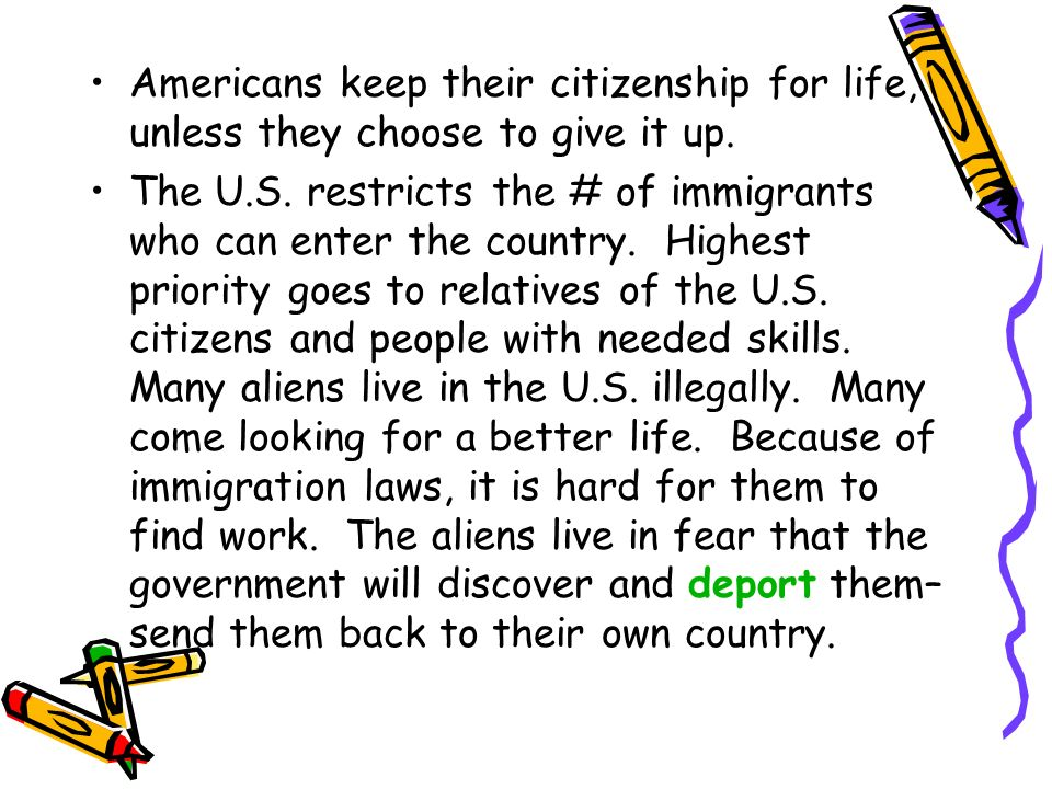 Americans keep their citizenship for life, unless they choose to give it up.