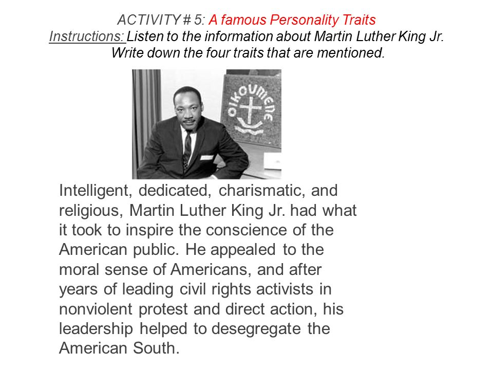 """martin luther king jr leadership personality traits """"i have a dream"""" by rev dr martin luther king, jr,  school and chair and director of the harvard advanced leadership  harvard business review."""