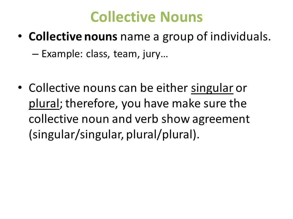 Collective Nouns Verb Agreement Image Information