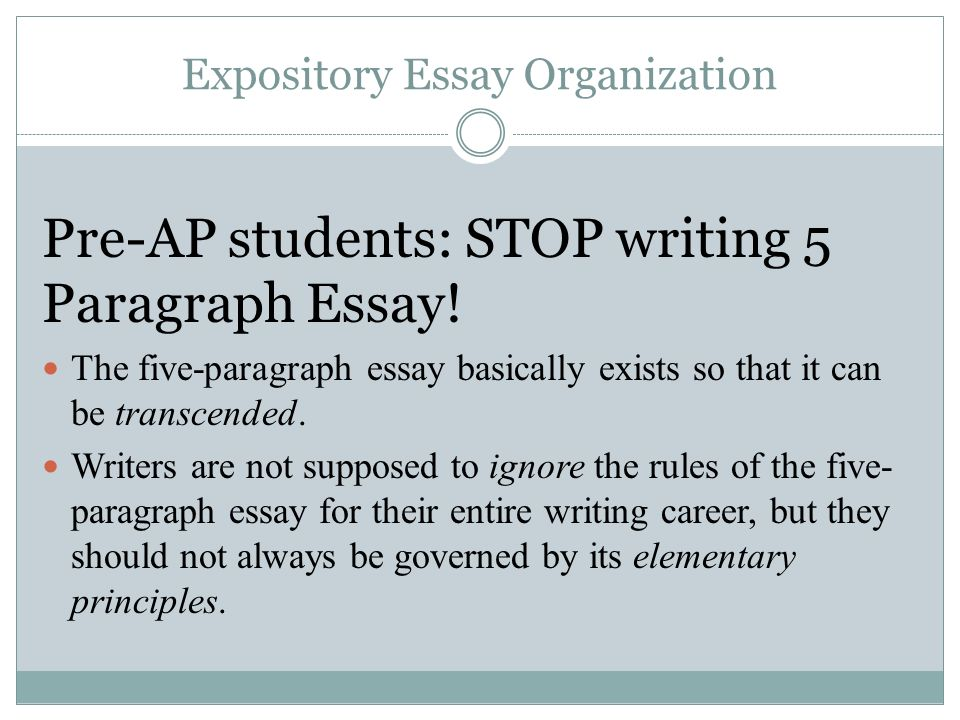 writing five paragraph persuasive essays The five-paragraph essay is a format of largely automatize creating and reading five-paragraph essays how to write a 5-paragraph essay outline essay writing.