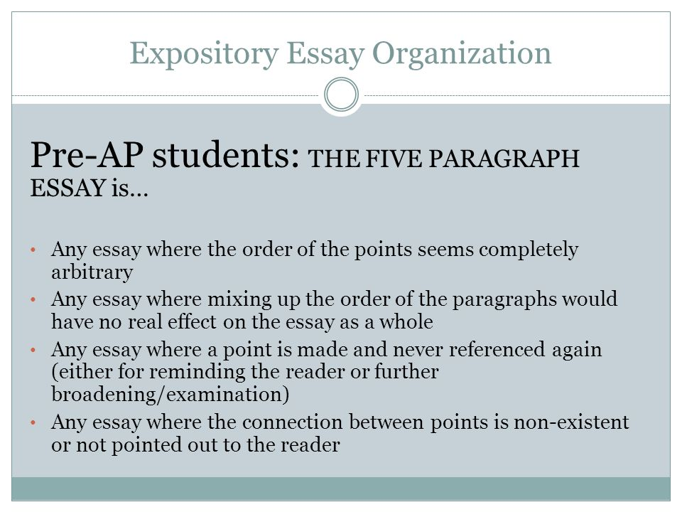 An expository essay quizlet