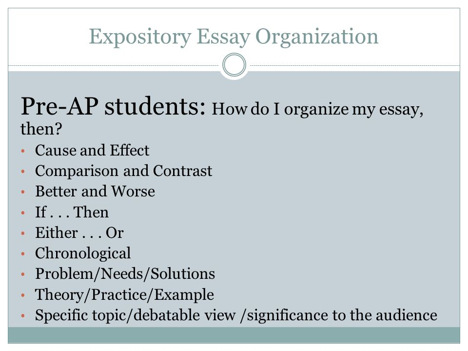Expository Essay Titles