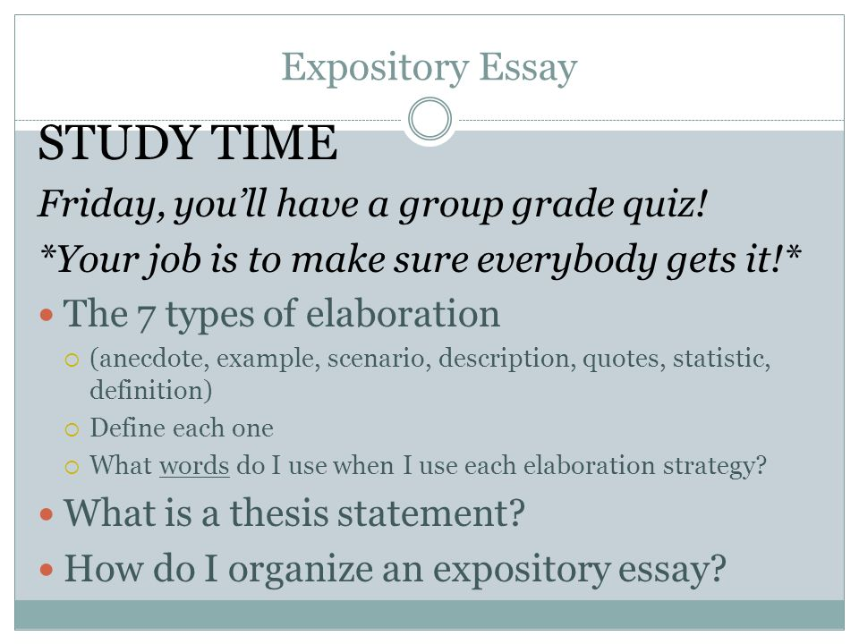 Define expository essay