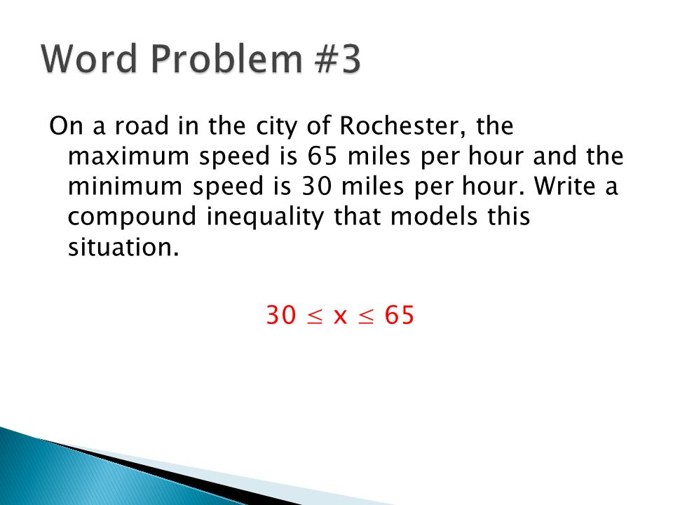 54 Compound Inequalities Again ppt download – Compound Inequality Word Problems Worksheet