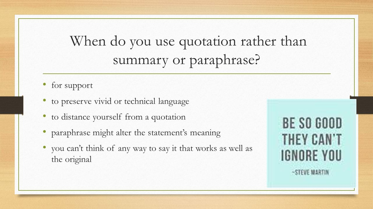 Rules in quoting paraphrasing and summarizing