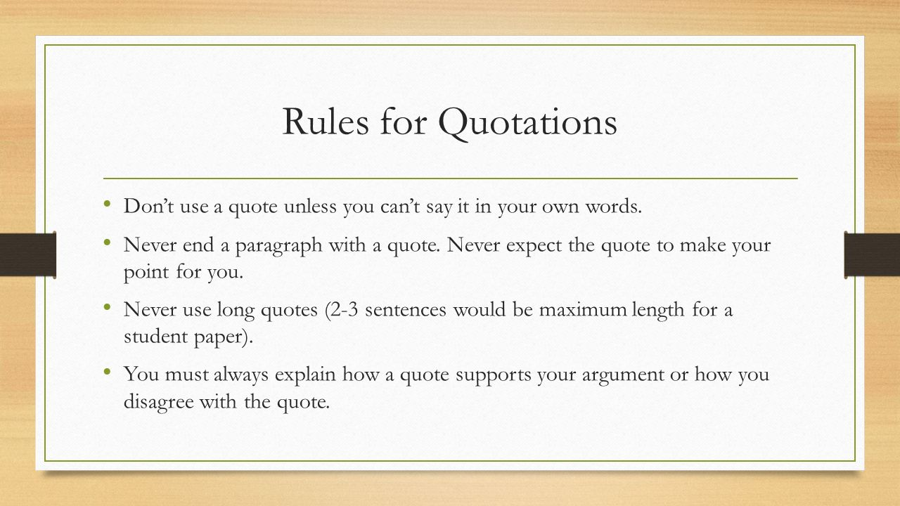 Quoting A Quote Paraphrasing Quoting And Summarizing  Ppt Video Online Download