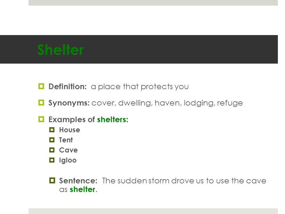 9 Shelter ...  sc 1 st  SlidePlayer & Vocabulary. - ppt download