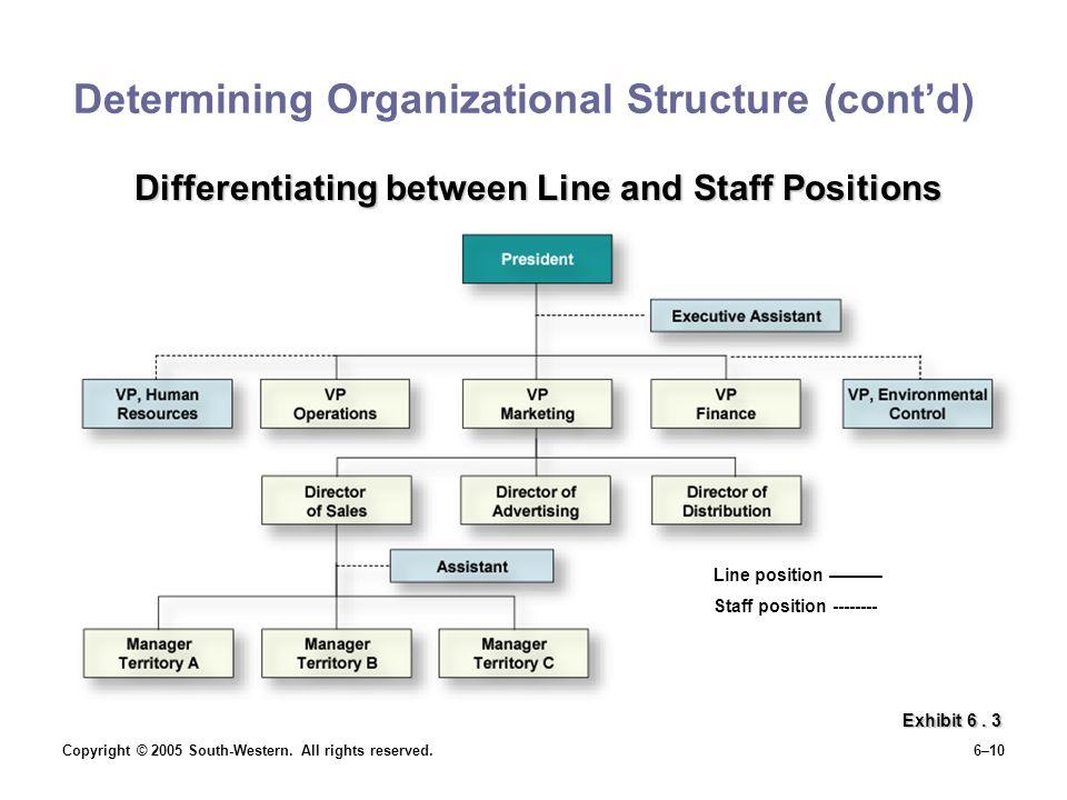 Determining Organizational Structure (cont'd)