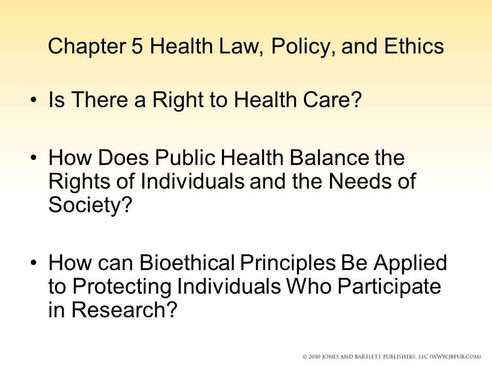 chapter 5 health law policy and ethics ppt video online download. Black Bedroom Furniture Sets. Home Design Ideas