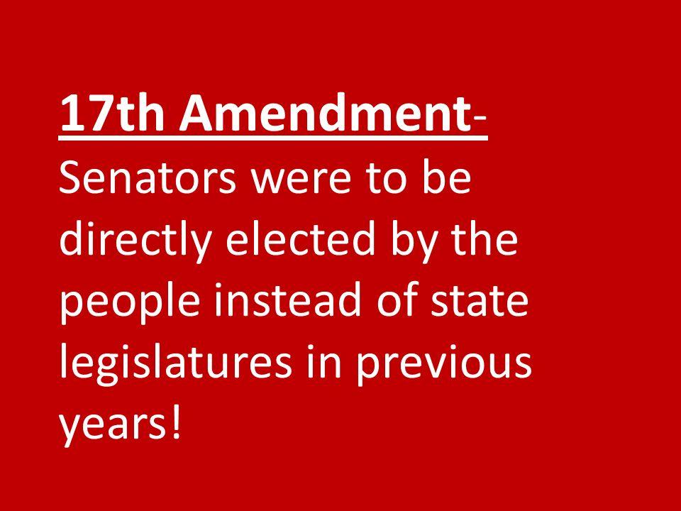 Repeal the   th Amendment       th Amendment Originally
