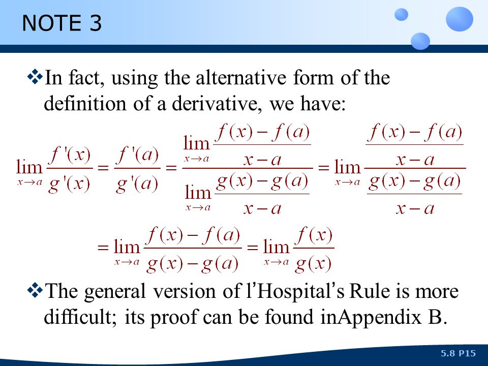 Indeterminate forms and l hospital s rule ppt video for Rule of three meaning
