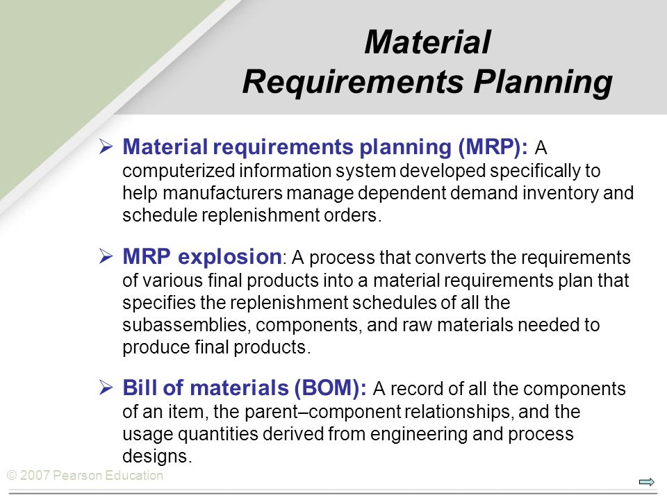 an analysis of a materials requirement plan Materials requirement planning: read the definition of materials requirement planning and 8,000+ other financial and investing terms in the nasdaqcom financial glossary.
