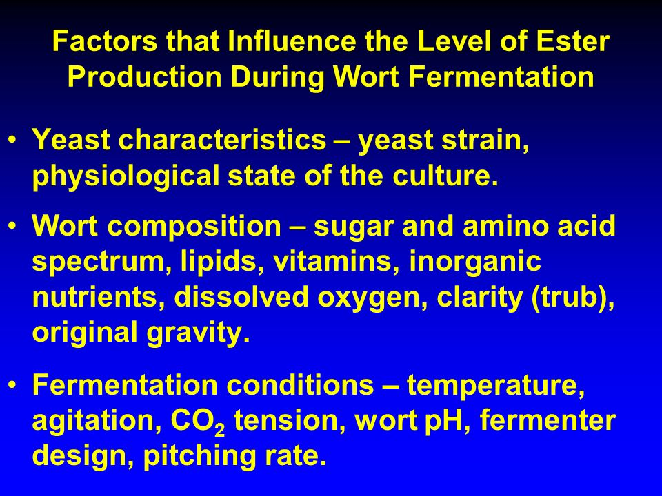 an investigation of the factors that affect the rate of fermentation of yeast Expansion rate: to determine the effects of salt  the effects of salt in dough fermentation were investigated and  in the amount of yeast used would affect the.