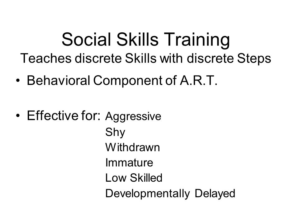 Invitation to Aggression Replacement Training - ppt download