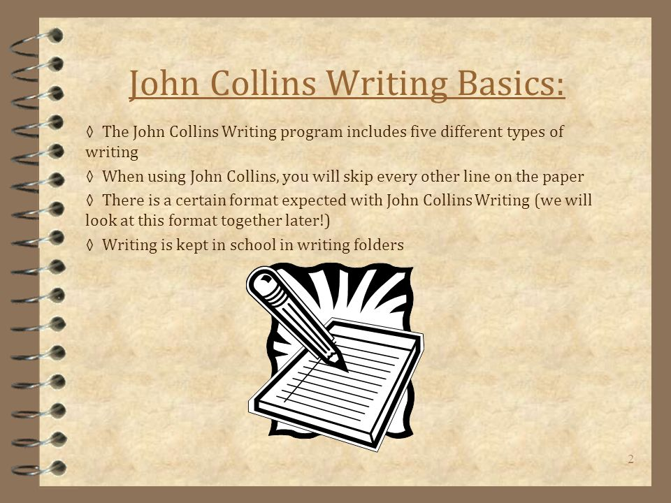 John collins writing research paper