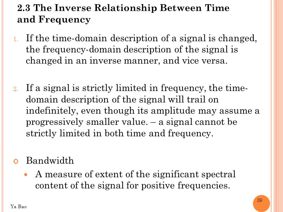 relationship between frequency domain and time reflector