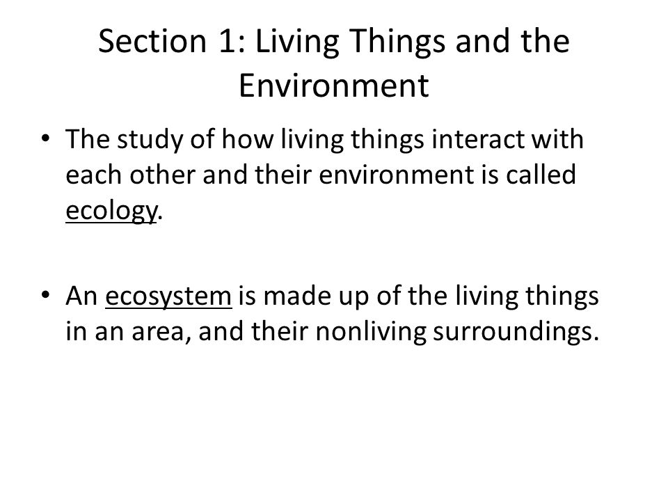 living in the environment chapter 3 Apes ch 3 notes: ecosystems and how they work 31 notes i matter, energy  and life a matter in living and nonliving systems 1) chemistry terms for review.