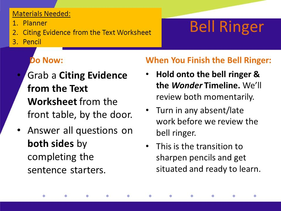 Citing Textual Evidence Lesson Plans &amp- Worksheets