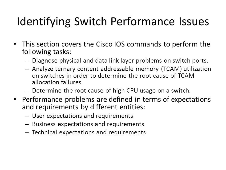 Identifying Switch Performance Issues