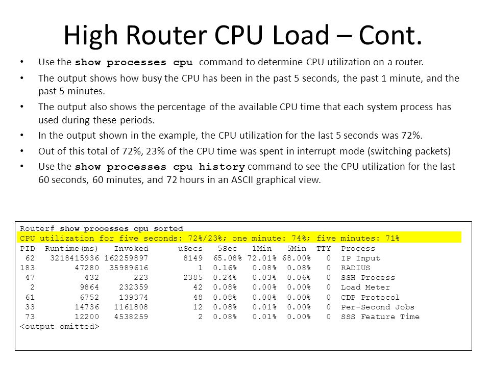 High Router CPU Load – Cont.