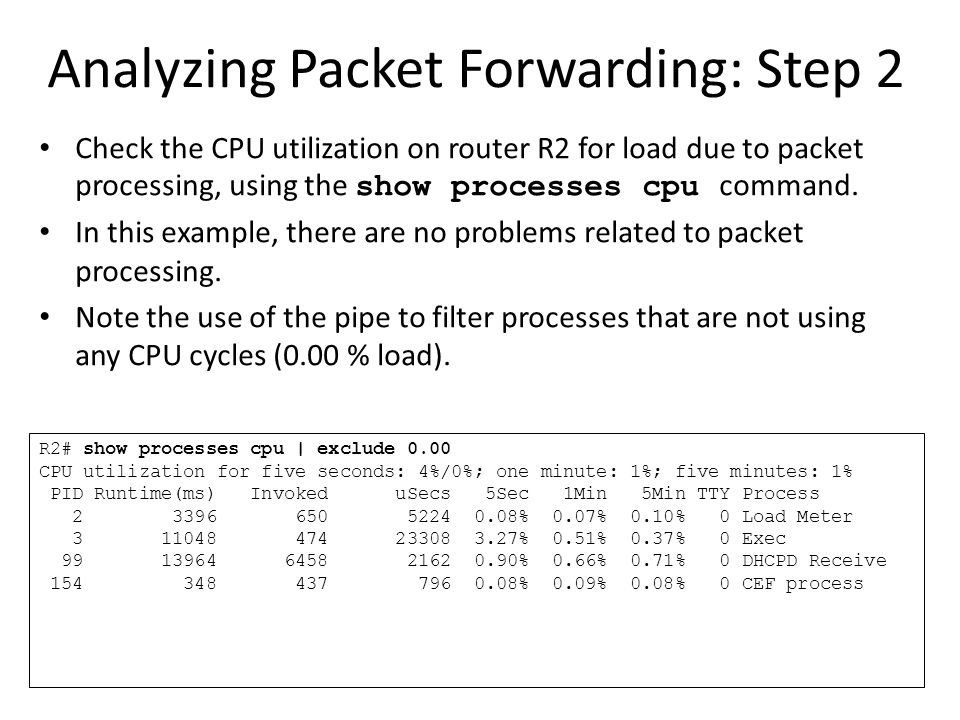 Analyzing Packet Forwarding: Step 2