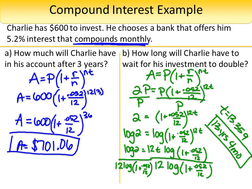 Section 4.7: Compound Interest - ppt video online download