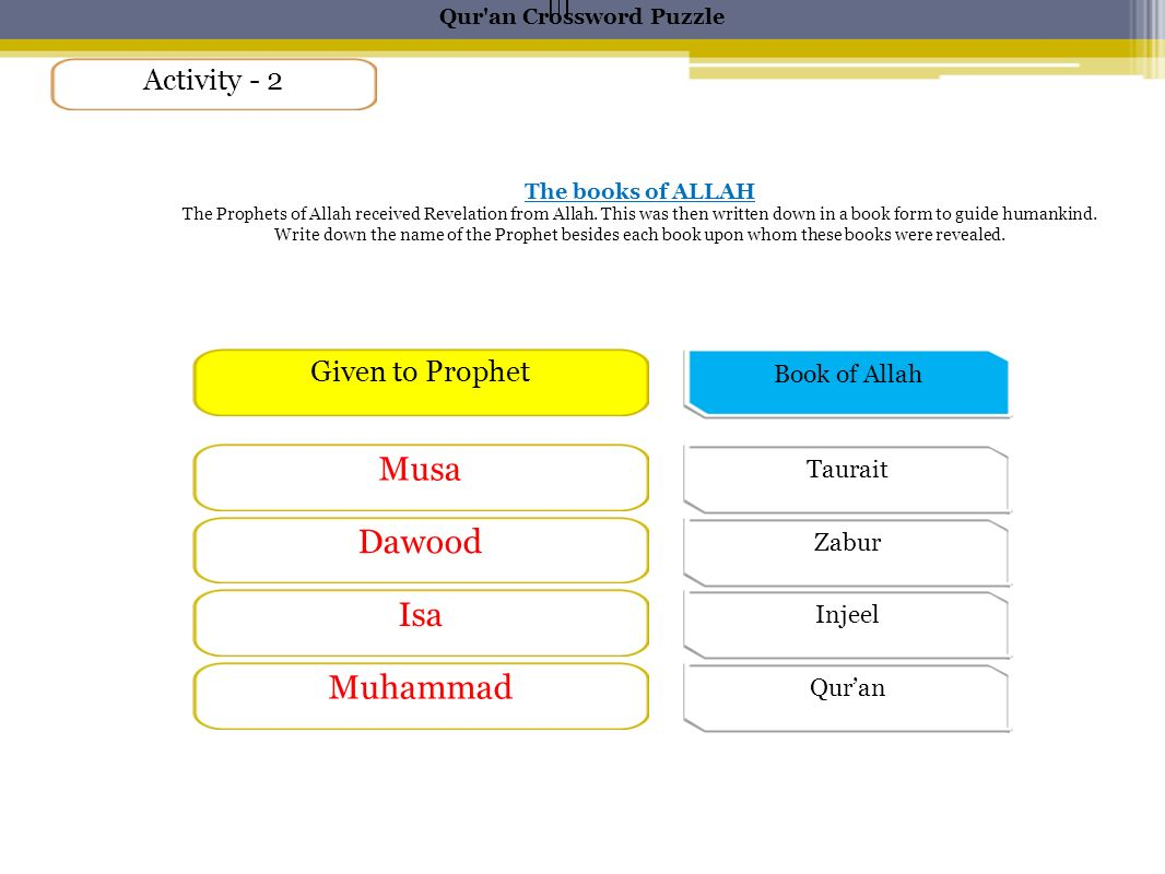 islams deity crossword