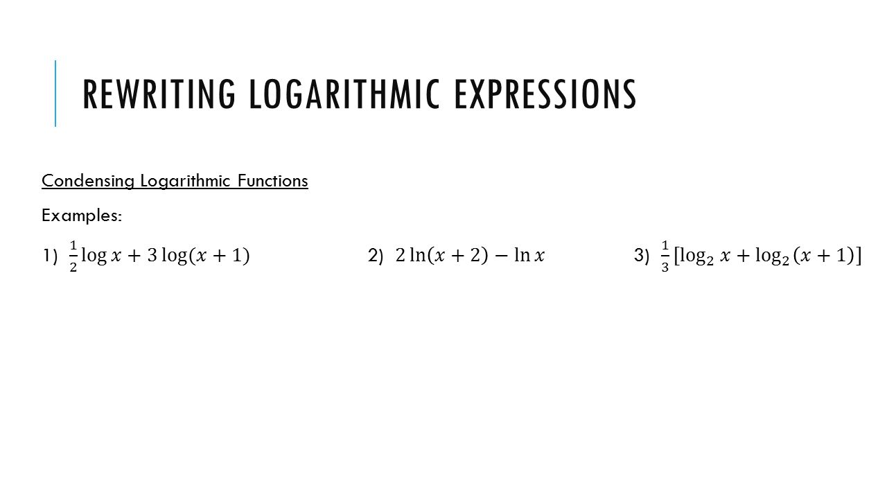 Logarithmic equations: variable in the argument